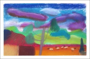Paysage aux couleurs fauves