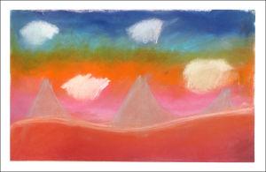Paysage aux couleurs chaudes