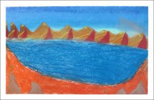 La côte couleur ocre