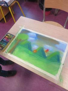 Paysage dessiné par un enfant
