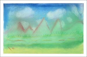 Montagnes dans la brume