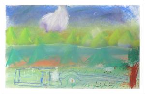 Paysage aux couleurs pastels