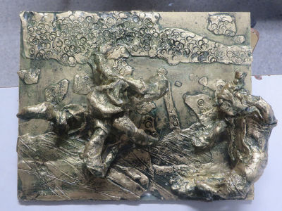 Bas-relief imitation bronze - 10