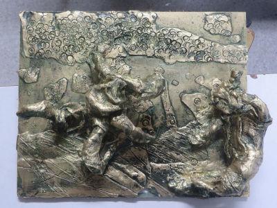Bas-relief imitation bronze - 10