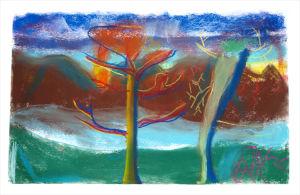 Paysage d'automne en arts visuels