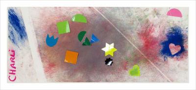 Peinture abstraite réalisée par un enfant