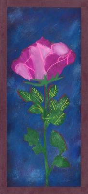 Rose dessinée par des enfants de CP/CE1 et CM1