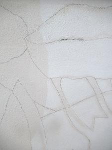 Dessin agrandi sur le mur