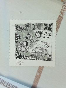 Décorer un carré avec des motifs décoratifs