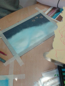 Commencer par peindre le fond