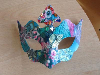 Le masque décoré par Mouniré