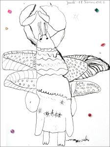 Une écrevisse, un papillon et un pingouin