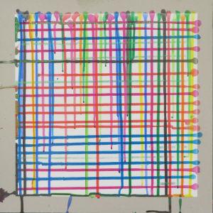 Trame de lignes colorées