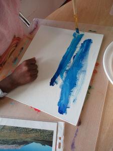 Peindre un ciel bleu