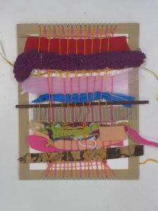 Projet d'art textile à l'école maternelle