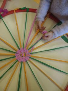 Apprendre à tisser dans un cercle