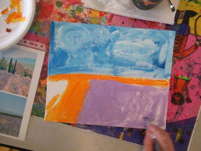 Puis peindre le premier plan