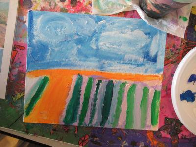Peindre les champs de lavande