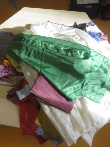 Récupérer du tissu pour le tissage
