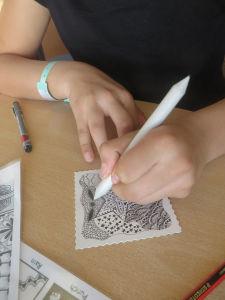 Créer des ombres avec une estompe