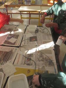 Boucles de fil de fer