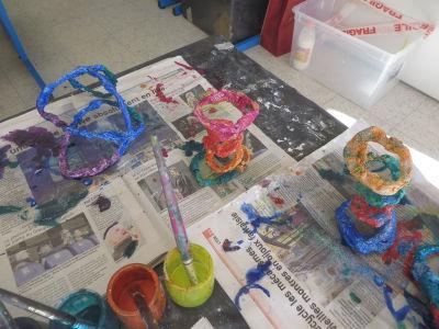 Créer à l'école maternelle avec du fil de fer