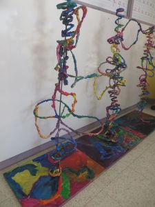 Oeuvres collectives à l'école maternelle