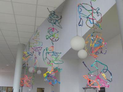 Plafond de l'Agora, pôle culturel de Limonest