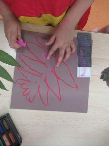 Colorier son dessin avec des craies