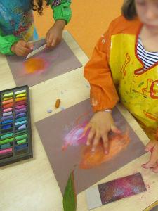 Peinture sèche au doigt