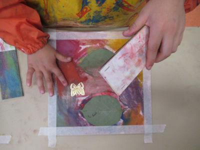 Etaler les pigments avec les doitgs