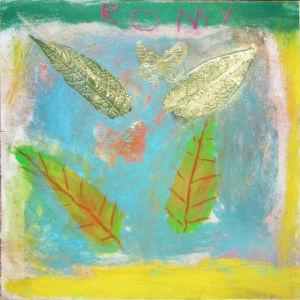 Dessin de feuilles d'arbre et collage