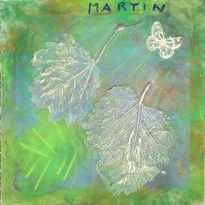 La dorure révèle les détails de la feuille séchée