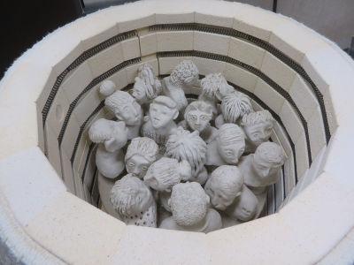 Intérieur du four à céramique