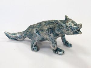 Sculpture de loup