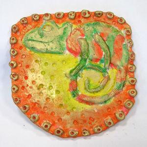 Céramique peinte avec des encres acryliques