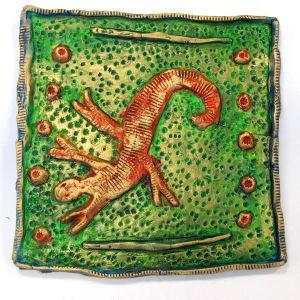 Salamandre en céramique