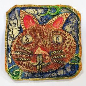 Petit tableau représentant un chat