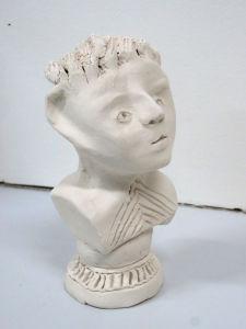 Petit buste avec socle gravé