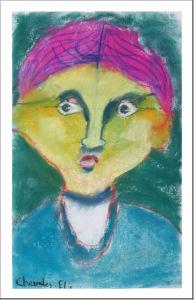Portrait réalisé par une enfant de CE2