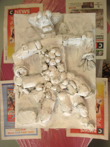Sculpture en objets de récupération