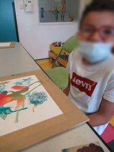 Atelier créatif avec les enfants hospitalisés