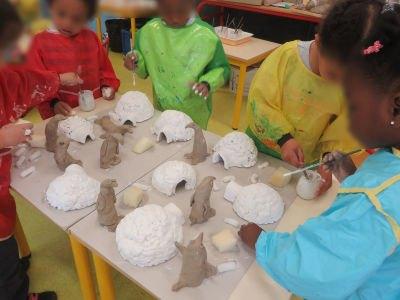 Une banquise fabriquée par les enfants