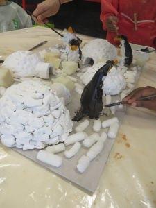 Peindre sa sculpture de pingoin