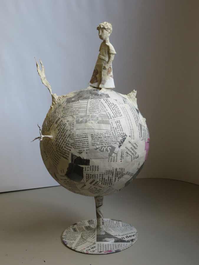 Nouveau sculpture papier mache NW-86